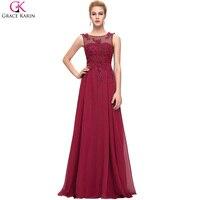 Grace karin ánh sáng hồng bridesmaid dresses 2017 màu xanh đỏ đen trắng tím cộng với kích thước voan maid of honor váy trang phục chính thức Gowns