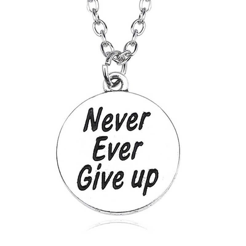Вдохновляющее серебряное ожерелье с подвеской круглое сердце письмо Спорт мускулическое Ожерелье «самолетик» для женщин мужчин Ювелирное Украшение с христианской символикой Colar