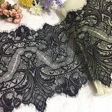 3 метра африканская кружевная ткань отделка 35 см DIY без растягивания аксессуары для вышивки черно-белая кружевная отделка для рукоделия шитья украшения