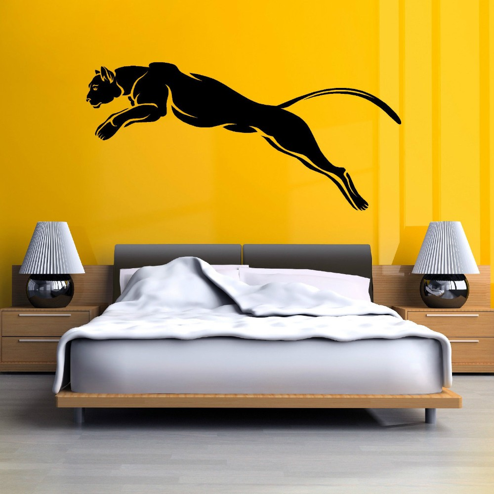 Wild Animal BLACK PANTHER PUMA JAGUAR Cat Vinyl Wall Decal Wall ...