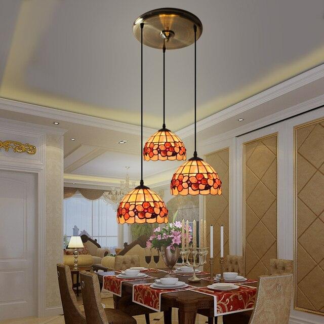 Tiffany, Europäischen Stil Garten, Drei Shell, Restaurant Kronleuchter,  Mediterrane Bar, Esszimmer