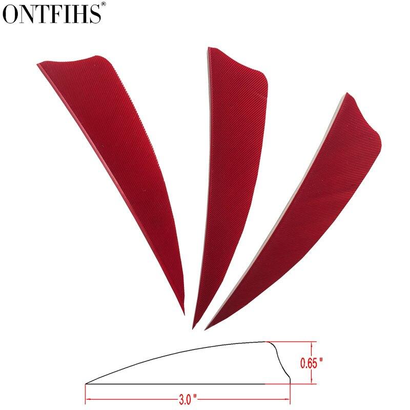 200pcs ontfihs 3 polegada penas para flechas escudo corte fletches tiro com arco caca seta peru