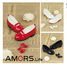 Lovely Bow Shoes 3 colors for BJD 1 4 MSD 1 3 SD10 SD13 Super Dollfie