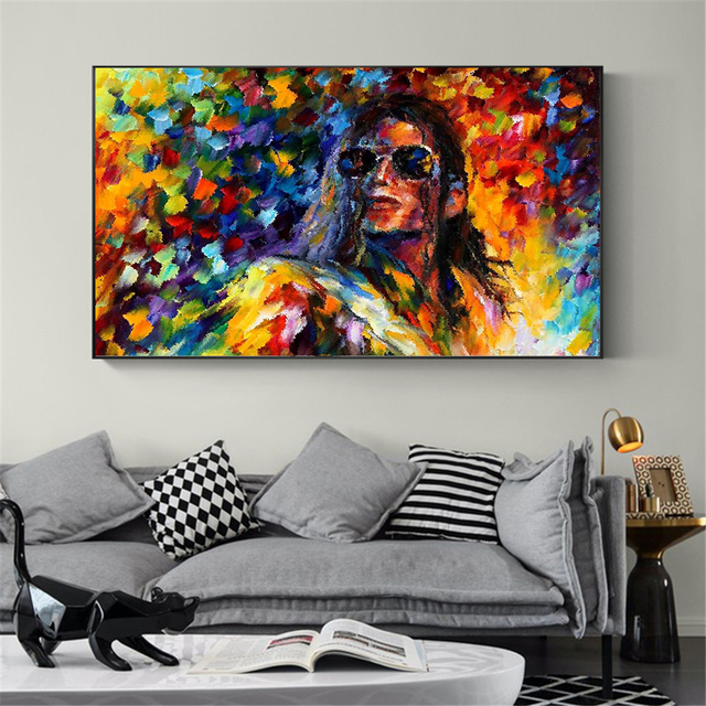 Abstract Oil Painting On Canvas Prints Michael Jackson Poster Singer Wall Pictures For Living Room Decoration