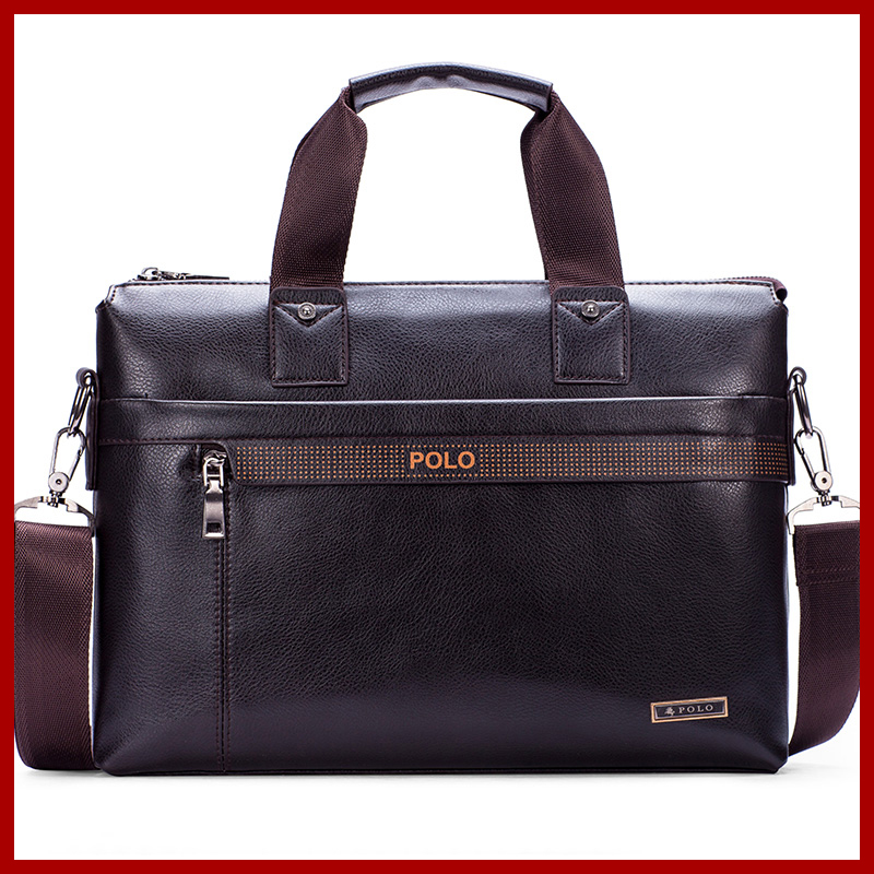 2017 New Fashion Men's bag Famous Brand POLO Shoulder Bag vintage men Messenger Bags Fashion Men's Briefcase Bags