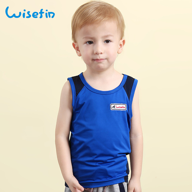 2ea1f14f989c Wisefin Boys Summer T-Shirt Sport Sleeveless Kids Vest Patchwork Children  Kids Clothes Outdoor Activewear Baby Boy Tops Age 2-6