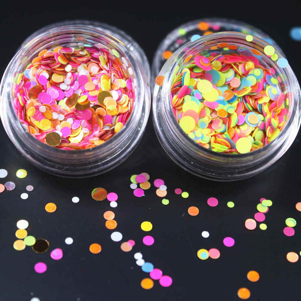 23 สีเงารอบเลื่อม Ultrathin ที่มีสีสันเล็บเคล็ดลับ Glitter UV GEL 3D เล็บตกแต่งเล็บ DIY อุปกรณ์เสริม 2017