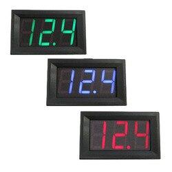 1 pcs 2 Fios 0.56 polegada LED voltímetro Digital DC 4.50 v-30.0 v Voltímetro Digital Uso Doméstico Digital voltímetro Amperímetro Dupla Afixação