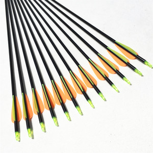 Image 5 - NEW 6/12/24pcs 32 inches  hot sale fiberglass arrows hunting arrow archery  with changeable tips