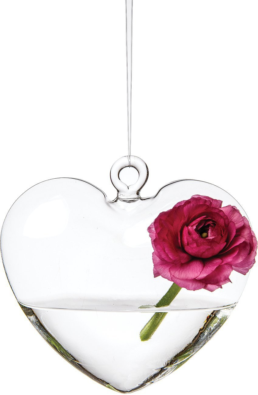 Glass heart christmas ornaments - Free Shipping Event Party Home Garden Decoration Terrariums Large Hanging Glass Heart Vase Decoration 100mm