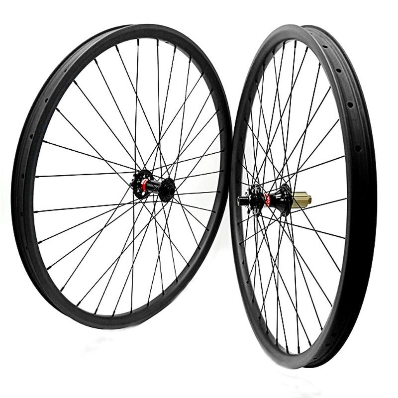 29er disc brake wheels boost D791SB D792SB 110x15 148x12 carbon wheelset 35x25mm tubelss Asymmetry mtb disc