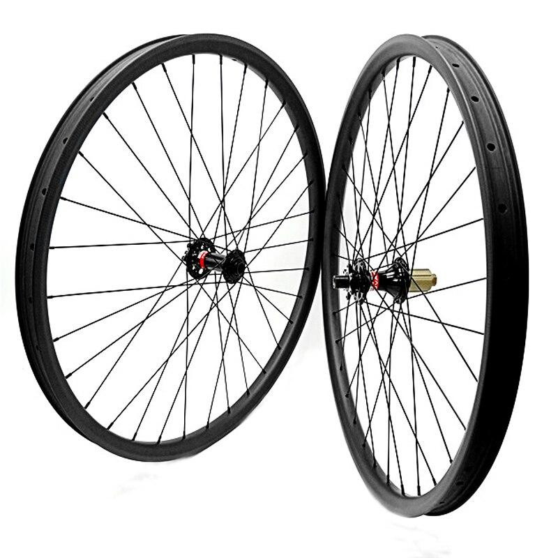 Asymétrie 29er boost D791 462SB 110x15mm 148x12mm carbone roues 35mm 1490g carbone roues vtt Tubeless roue vélo 1420