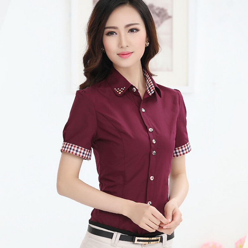 Aliexpress.com : Buy Women Office Shirts Plus Size Patchwork OL ...
