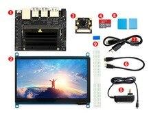 """Jetson Nanoผู้พัฒนาชุดแพคเกจAI 64GB Micro SD Cardกล้อง7 """"จอแสดงผลIPS 5V/3Aแหล่งจ่ายไฟ"""