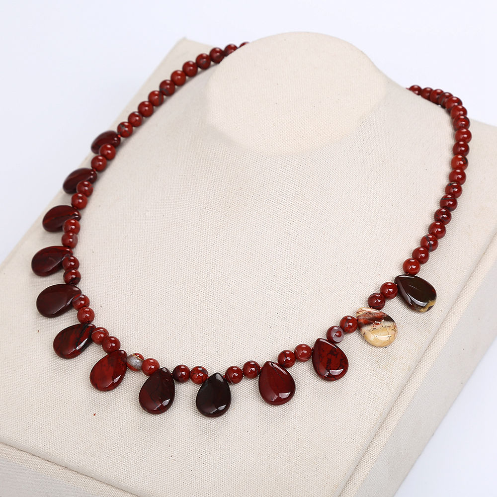 Women Necklace Jewelry Nature Red Jasper Crystal Stone Popular Chain Water Drop Ladies Horse Amber Necklace With Stone Dragon Women Necklace Jewelry Nature Red Jasper Crystal Stone Popular Chain Water Drop Ladies Horse Amber Necklace With Stone Dragon