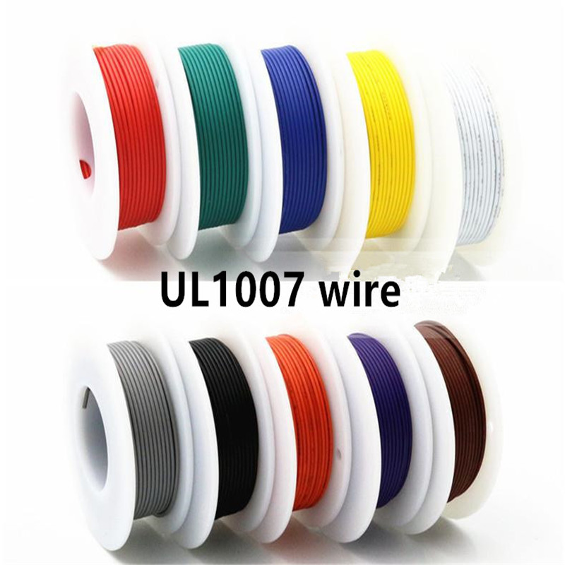 18 20 22 24 26 28AWG UL1007 Electrical Wires  Electronic Wire Conductor To Internal Wiring CABLES WIRES DIY