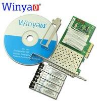 Winyao wyi350f4 PCI Express x4 Quad Порты и разъёмы 1000 Мбит/с gigabit ethernet lan Волокно сервер сетевой карты (850nm) для i350 f4 NIC