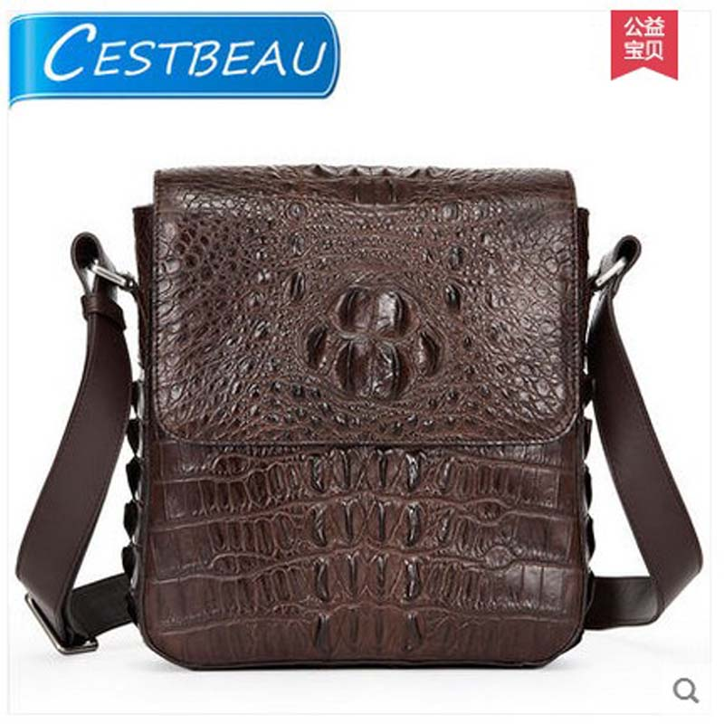 cestbeau authentic real crocodile skin men bag single shoulder bag man inclined male bag crocodile leather bag new business tihinco new authentic crocodile handbag single shoulder bag leather male fashion business and leisure bag document package