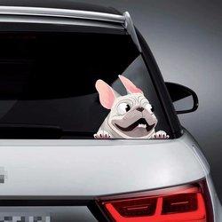 1Pcs Creative 3D Auto Raamstickers Grappige Mooie Hond Decals Decoratie Stickers Auto Producten Diy Auto Accessoires 22*16Cm