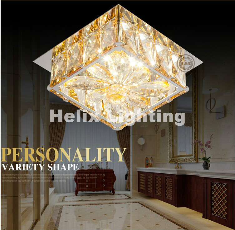 2017 Free Shipping15cm Modern Led Ceiling Lamp Flush Mount Crystal Ceiling Lights 90-265V 9W Hallway Bed Room Foyer Light d250mm crystal ceiling lamp bed room ceiling lights top crystal ball k9 crystal modern ceiling lights free shipping