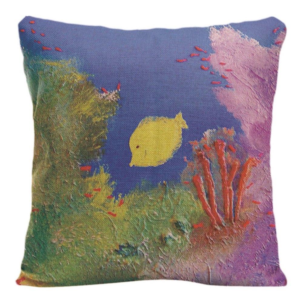Naturlig landskap Kuddeöverdrag Dekorativa kuddar för soffa - Hemtextil - Foto 3