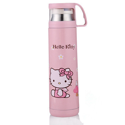 1x Hello Kitty Stainless Steel Insulation Cup Doraemon Drinking Bottle 400ml