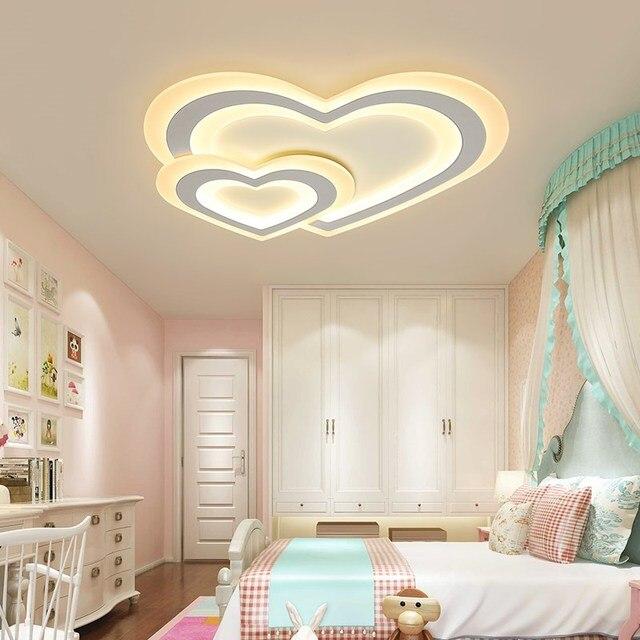 Modern Led Ceiling Lights For Children Baby Bedroom Dimming Lamp Ac110v 220v Sourface Mounted Home Decoration Lighting
