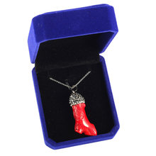 High Quality Natural Stone Pendant Necklace Red Coral Irregular for Women Gift