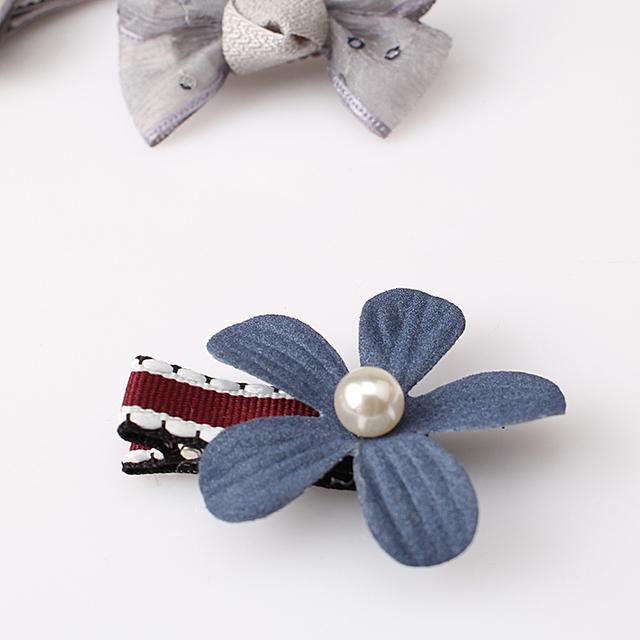 Cute Ribbon Hair Barrettes Flower
