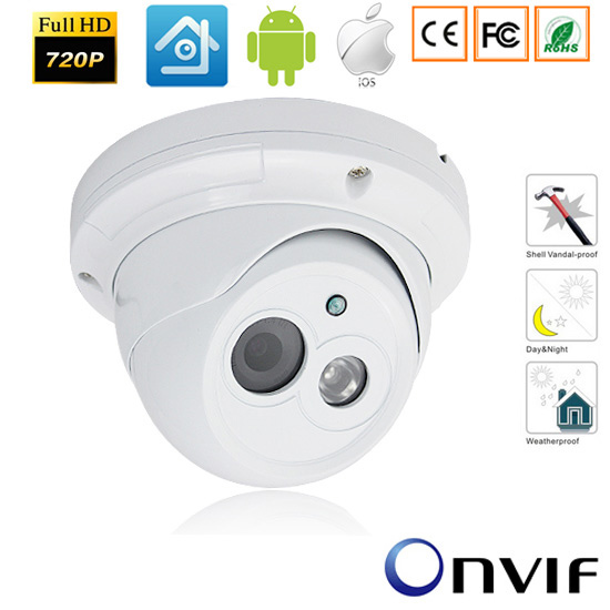 CCTV 720P/960P/1080P Securiy HD IP Network Camera 1.0/1.3MP/2.0 Mega pixel Outdoor Network IP Dome Camera ONVIF H.264 2.8mm Lens elp ip camera 720p indoor outdoor network 1 0mp mini hd cctv security surveillance camera onvif poe h 264