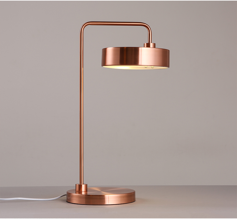 Nordic Simply Art Designer Led Table Lamp Modern Concise Iron Study Light Hotel Room Bed Light With Led Bulbs-in LED Table Lamps from Lights & Lighting    1