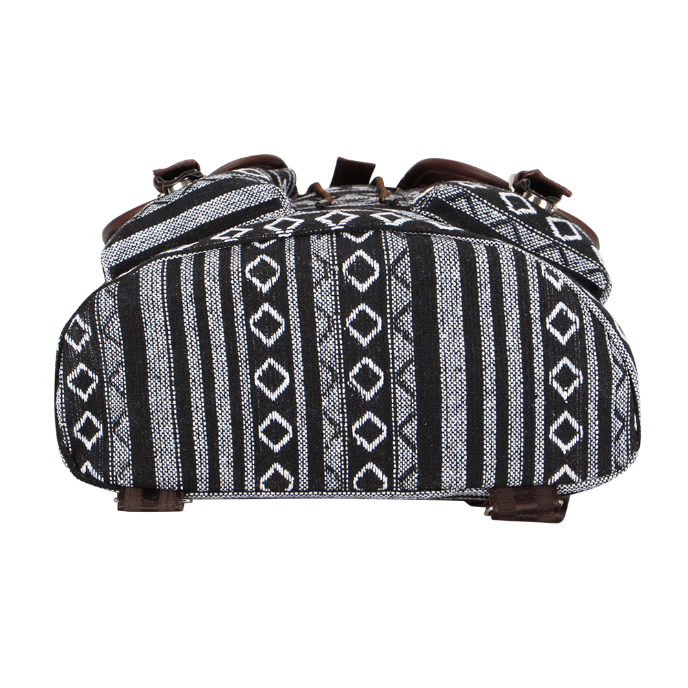 Women's Striped Ethnic Style Backpack 5