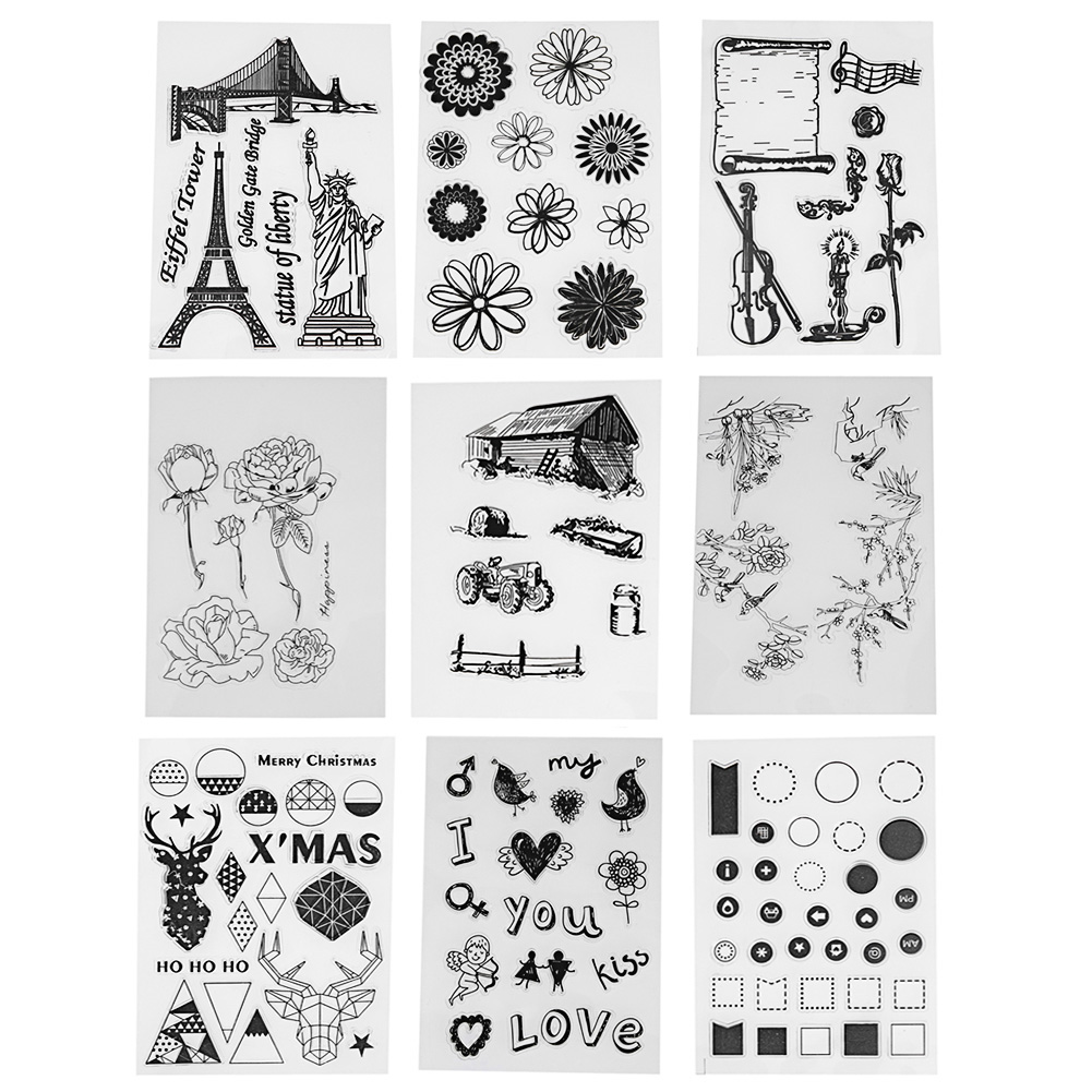 Transparent Clear Stamp Silicone Stamp Seal for Making DIY Scrapbooking Photo Album Decorative Clear Stamps Sheets flowers and lace design transparent clear silicone stamp seal for diy scrapbooking photo album wedding gift cl 083