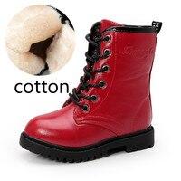 AIKELINYU Autumn Children Martens Boots Big Girl British Style Fashion Boots Girl High Cylinder Waterproof Boots