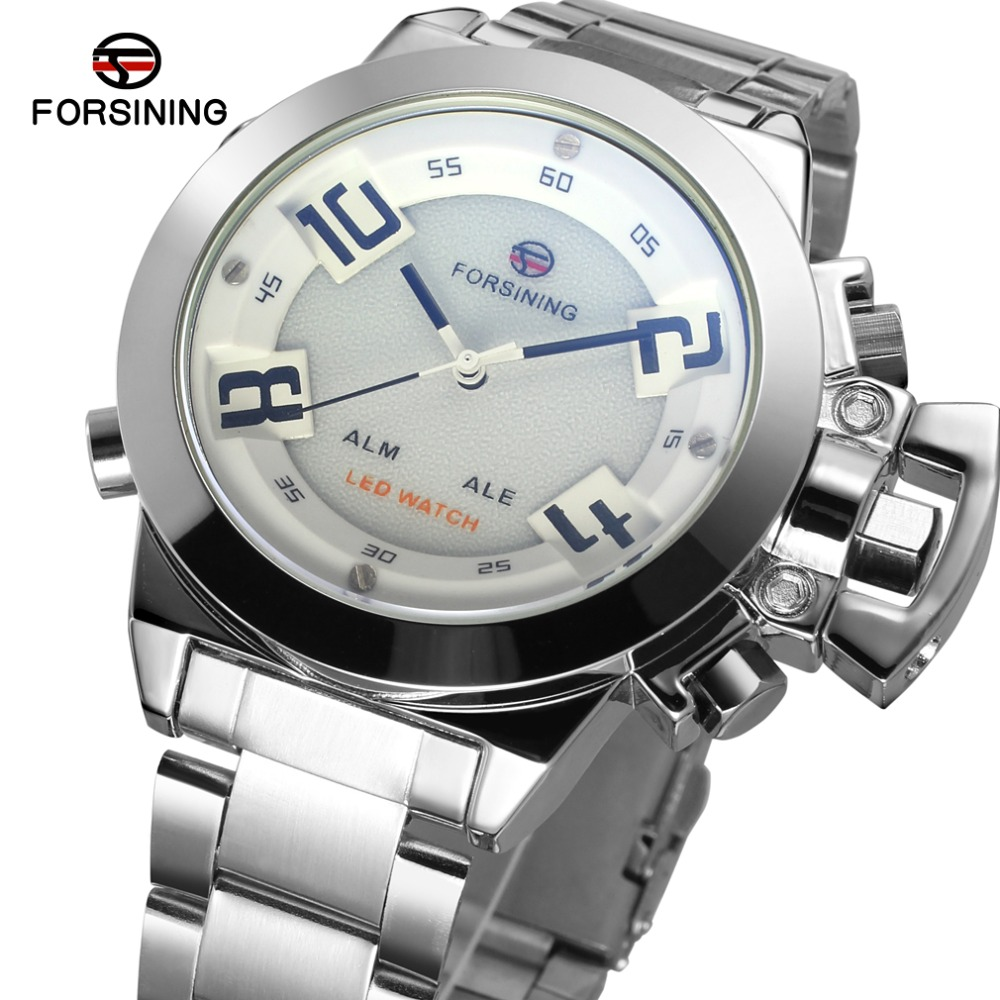 New watch FSG8093Q4S1 WATCH MEN LED Display white dial silver color case quartz analog-digital wholesale watch giftboxNew watch FSG8093Q4S1 WATCH MEN LED Display white dial silver color case quartz analog-digital wholesale watch giftbox