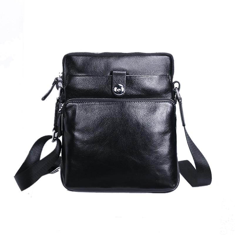 ФОТО Genuine Leather Men Bags Simple Fashion Handbags Retro Cow Bags Men Messenger Bags Briefcase Simple Messenger Bag