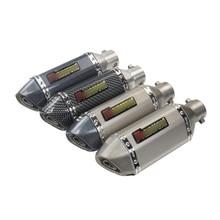 310mm Short Silencer Motorcycle Exhaust Muffler Pipe With DB Killer Silp On 38-51mm For Yamaha 250/300 Ninja Huanglong 3/600