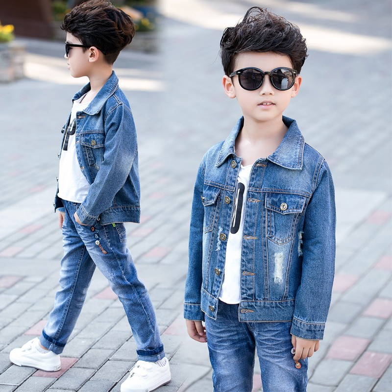 52b78ce57 Toddler Boys Blazer 2018 Spring New Fashion Boys Clothing Hole Denim ...
