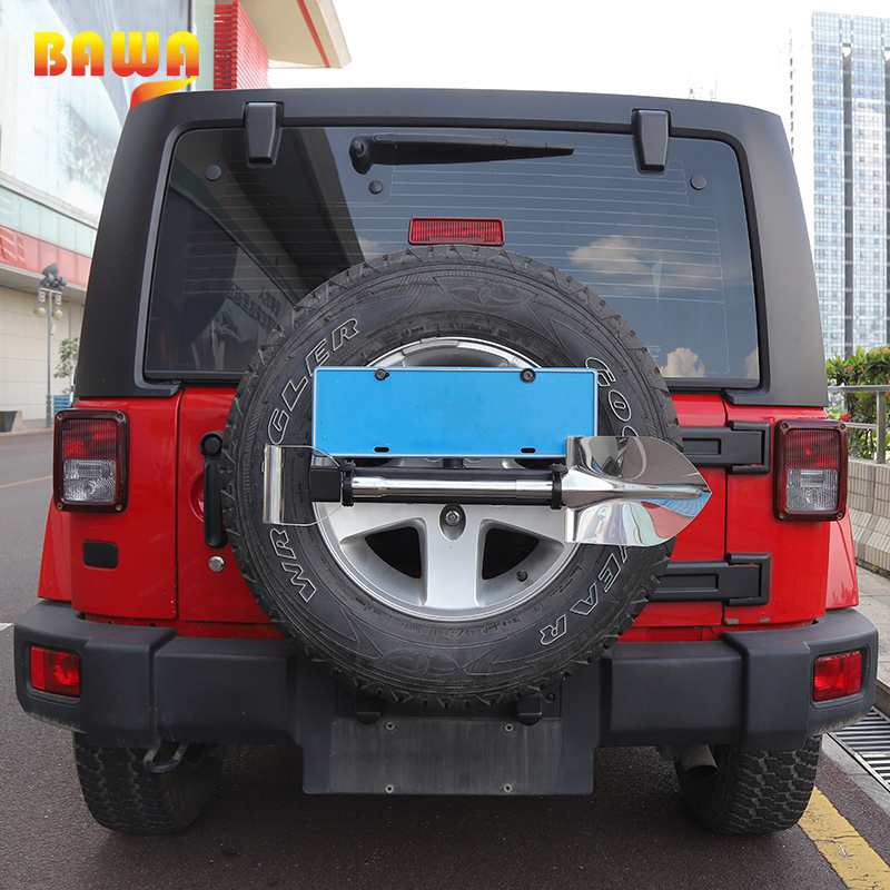 купить BAWA License Plate Frame for Jeep Wrankler for Suzuki Jimny Stainless Steel Flag Pole Bracket Licence Plate Holder по цене 4683.67 рублей