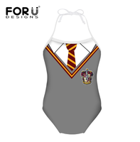 Marina Customized Funny Baby Girls Gray Uniform Design Swimsuit Customized Name For Back Summer Beach Wear