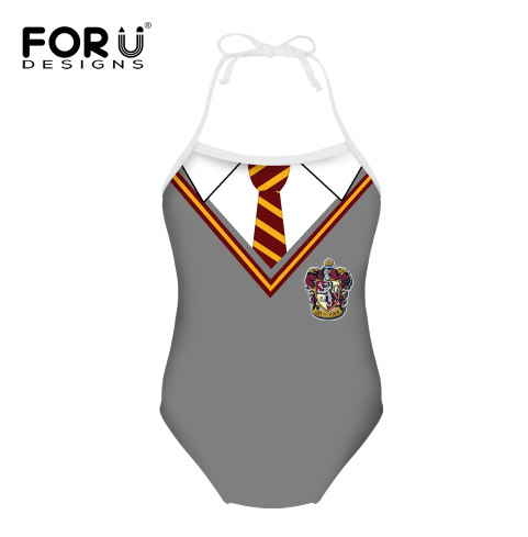 Marina Customized Funny Baby Girls Gray Uniform Design Swimsuit Customized Name for Back Summer Beach Wear for Kids atlas marina beach suites