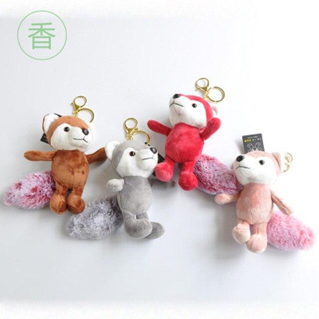 [4 cores] 10 CENTÍMETROS Lobo Anime Brinquedos Bonecos de Pelúcia Fofo Da Corrente Chave Chaveiro Chaveiro Titular da Chave Pingente Unisex presentes Preço de Atacado