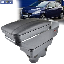 Arm Rest For Peugeot 208 2013   2018 Armrest Rotatable Storage Box Decoration Car Styling 2015 2016