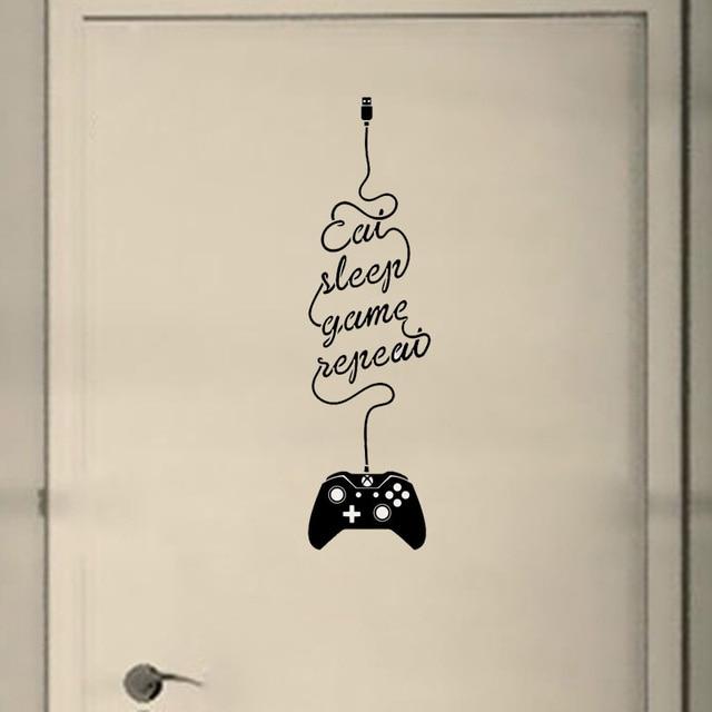 YOJA 6.7*25 cm ĂN CHƠI NGỦ Tường Decal Gamer Sticker Sáng Tạo Phòng Ngủ Cửa Trang Trí Nội Thất D1-0016