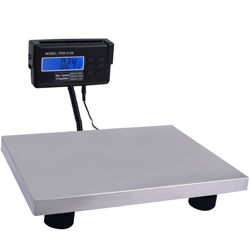 Industrial Heavy Duty Digital Shipping Postal Scale Parcel Office Bench Scale Large Platform 300kg/660lb LCD w/ AC Adapter