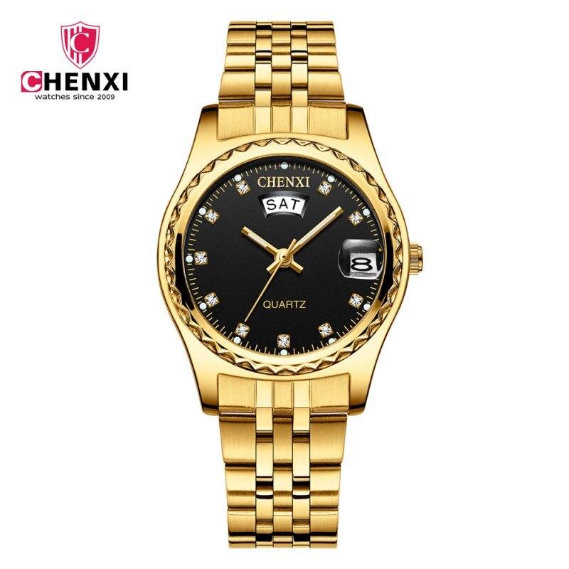 CHENXI Women Fashion Watches Ladies Gold Bracelet WristWatches Luxury Brand Gift For Women's Quartz Clock Wristwatch Reloj Mujer