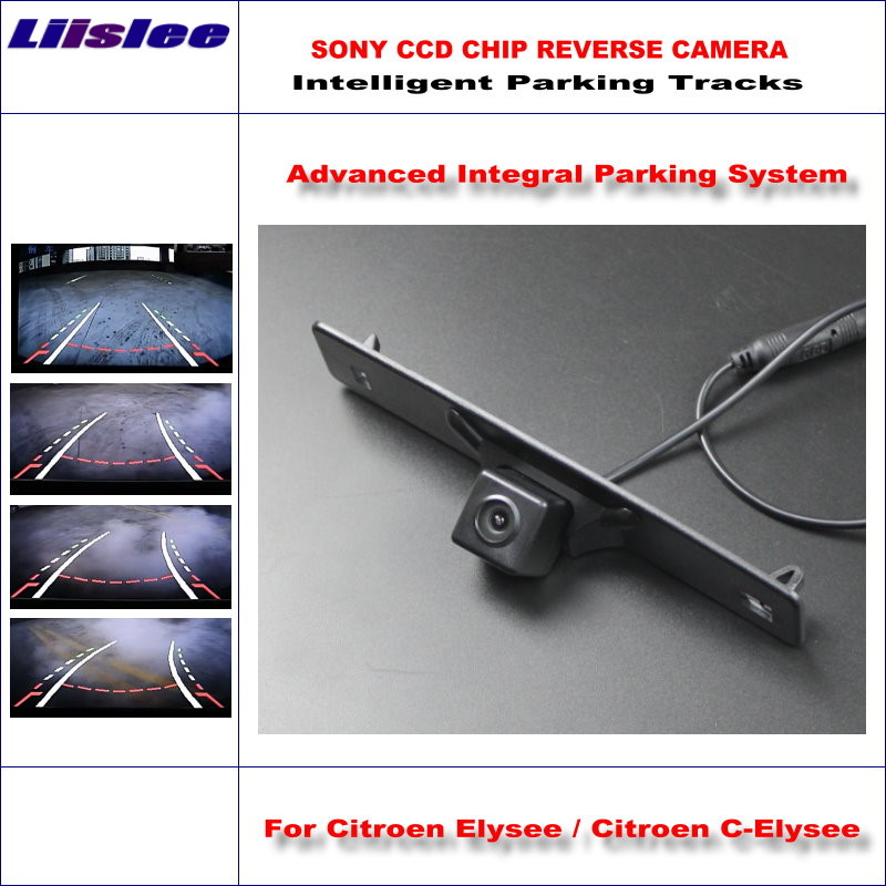 Liislee Backup Rear Reverse Camera For Citroen Elysee / Citroen C-Elysee 2014 2015 HD 860 Pixels Intelligent Parking Tracks