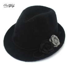 Outfly new arrive brand fashion hat winter warm gorgeous for women netarean formal party exquisite rabbit romantic