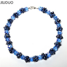 100% Genuine Real Freshwater Cultured Mutilayer Blue Pearl Necklace Fashion for Female Gift 925 Sterling Silver Clasp Jewelry jyx pearl silver 925 jewelry genuine 12 5mm oval golden south sea cultured pearl 925 pendant necklace in sterling silver 18
