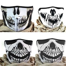 Multifunction Cosplay Bike Skeleton Mask Costume Halloween Mask Cycling Motorcycle Paintball Half Face Mask Winter  JL